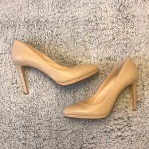 Banana Republic Nude Leather Heels LIKE NEW sz 7.5